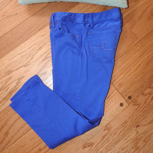 Lilly Pulitzer Worth Skinny Blue Pants Sz 8